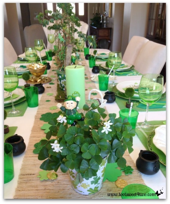 St. Patrick's Day table decorations