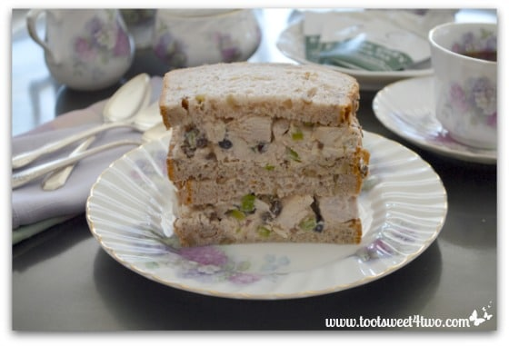 Traditional Chicken Salad Sandwich with Currants and Walnuts