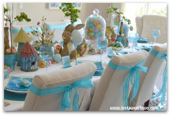Blue Bunny Easter Table - Decorating the Table for an Easter Celebration