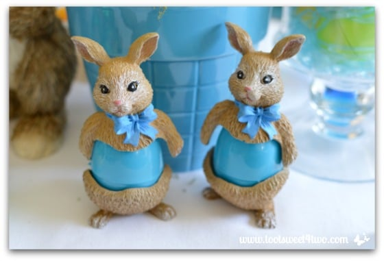 Bunny egg holders - Decorating the Table for an Easter Celebration