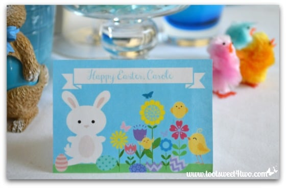 Easter Placecard - Carole - Decorating the Table for an Easter Celebration