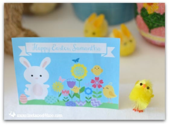 Easter Placecard - Samantha - Decorating the Table for an Easter Celebration