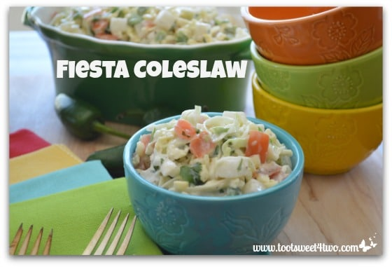 Fiesta Coleslaw with jalapeno and cilantro