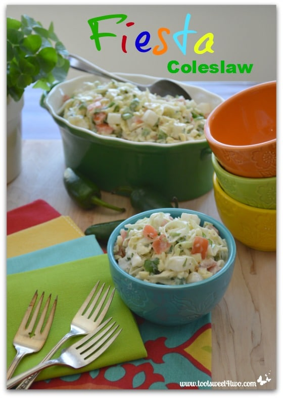 Fiesta Coleslaw with jalapenos