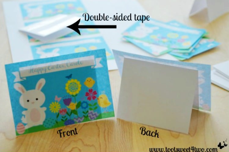 Finished Placecards - How to Make Easter Placecards for Your Holiday Table in PicMonkey