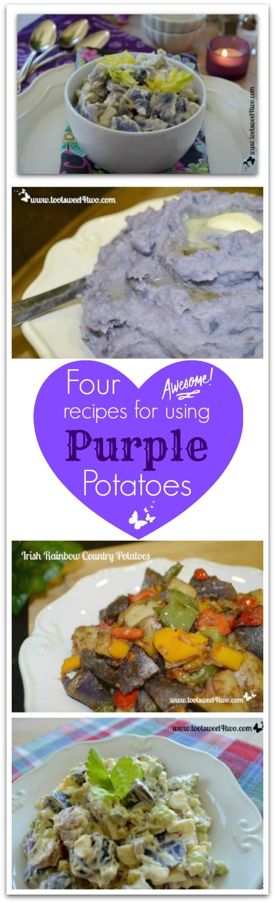 Four Awesome Recipes for using Purple Potatoes