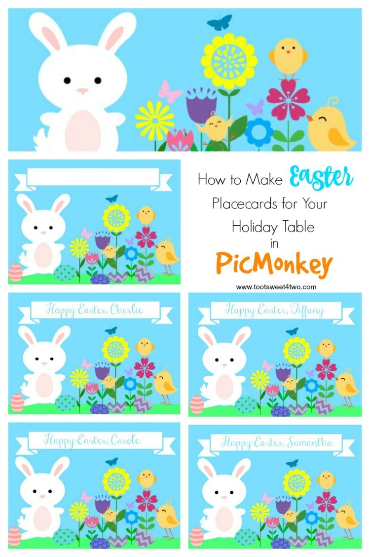 How to Make Easter Placecards for Your Holiday Table in PicMonkey cover