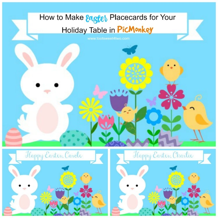 How to Make Easter Placecards for Your Holiday Table in PicMonkey - square