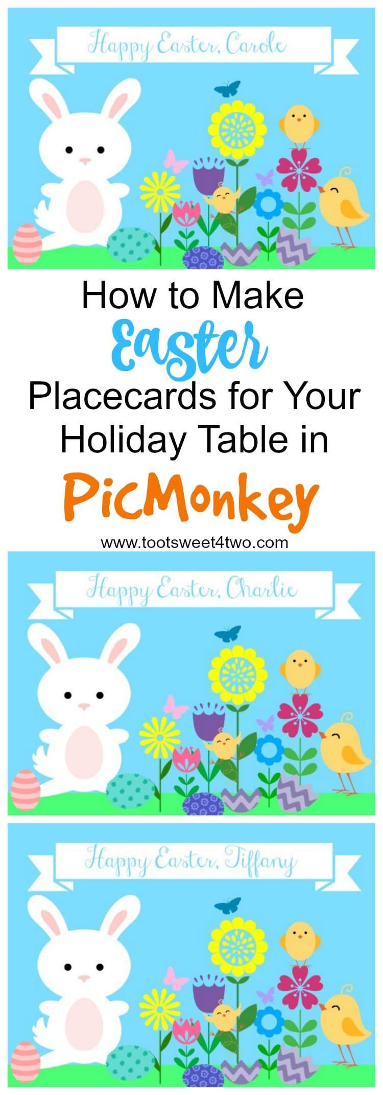 How to Make Easter Placecards in PicMonkey - Pinterest collage