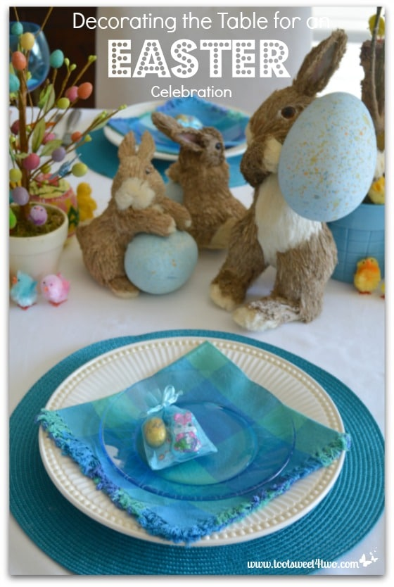 Placesetting for Decorating the Table for an Easter Celebration