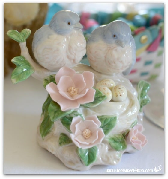 Porcelain Bluebirds - Decorating the Table for an Easter Celebration