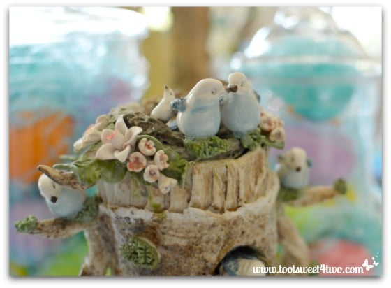Porcelain bird nest - Decorating the Table for an Easter Celebration