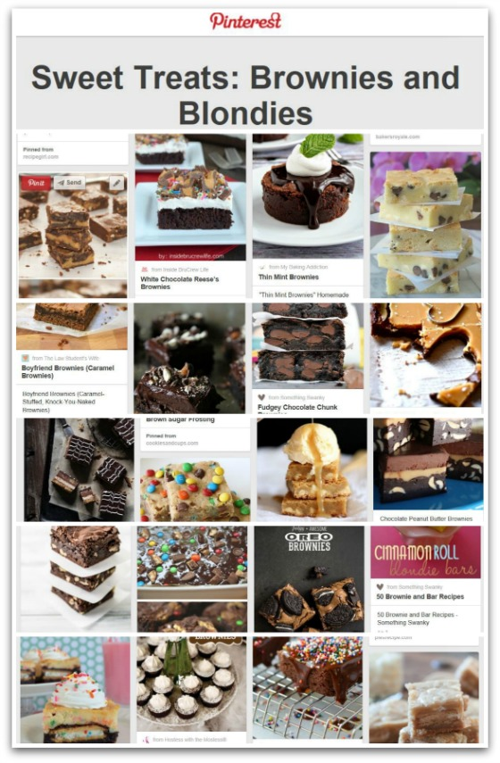 TS4T Sweet Treats Brownies and Blondies Pinterest Board