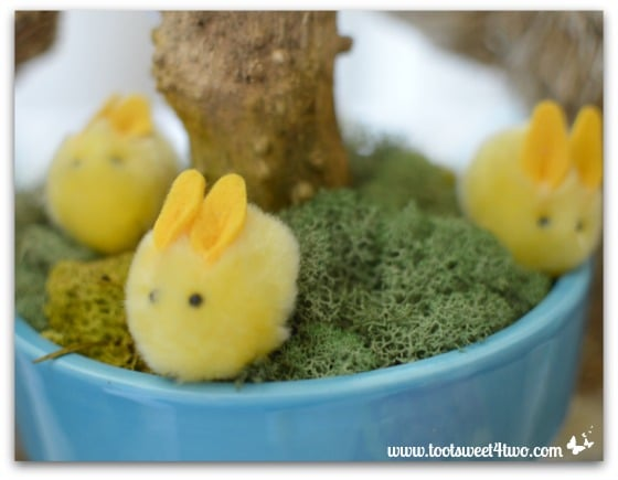 Yellow Easter Bunnies - Decorating the Table for an Easter Celebration