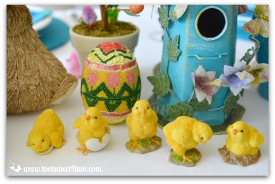 Yellow chicks - Decorating the Table for an Easter Celebration