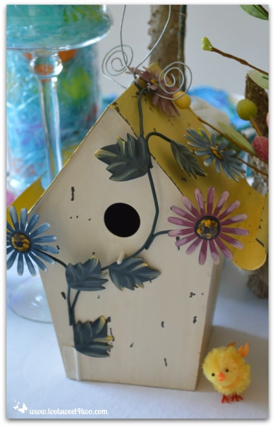 Yellow-roofed birdhouse - Decorating the Table for an Easter Celebration