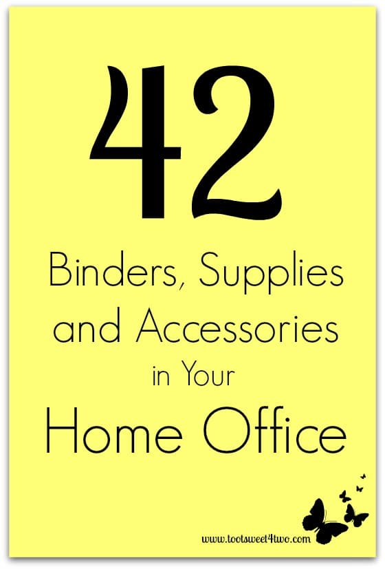 42 Binders, Supplies and Accessories in Your Home Office cover