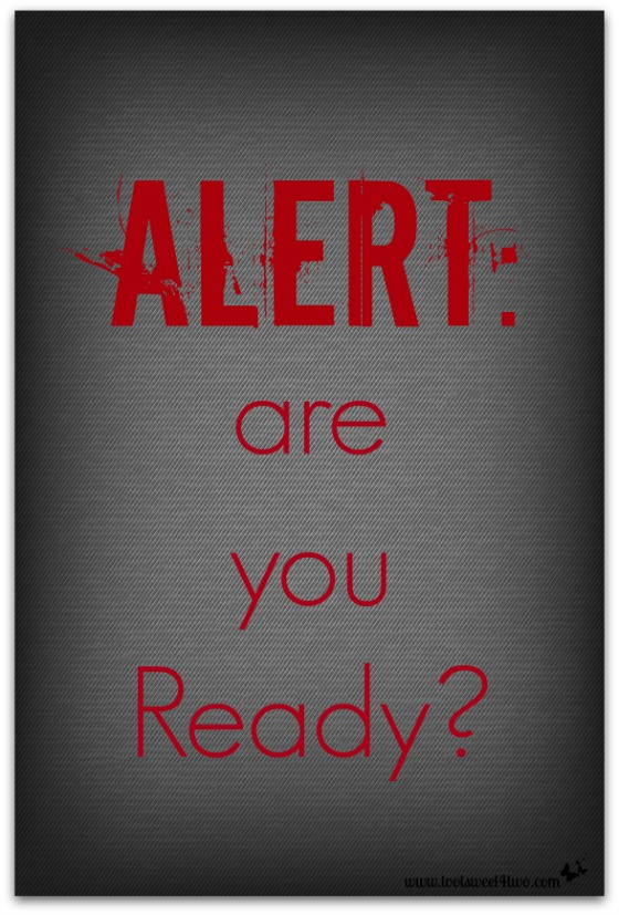 Alert are you Ready cover