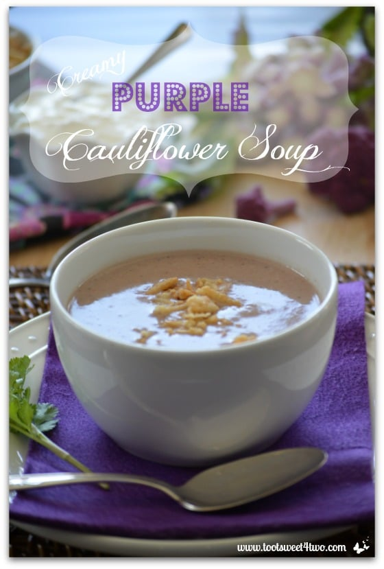 Creamy Purple Cauliflower Soup Pic 1