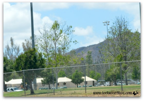 Driving by Tent City at Kit Carson Park, Escondido - Alert are you Ready