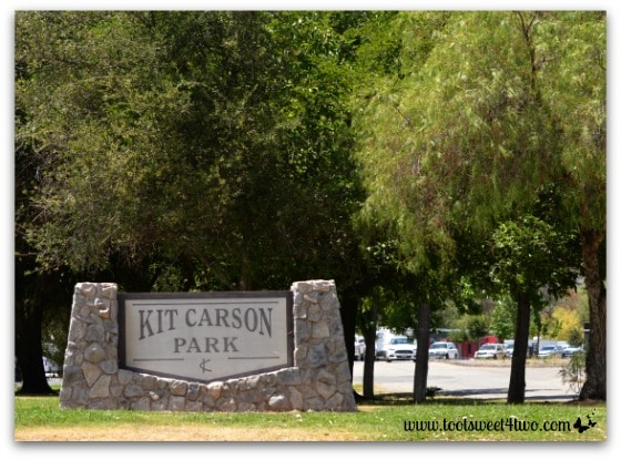 Kit Carson Park sign, Escondido, California - Alert are you Ready