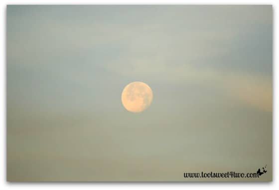 Moon in the Western smoke-filled sky - Alert are you Ready