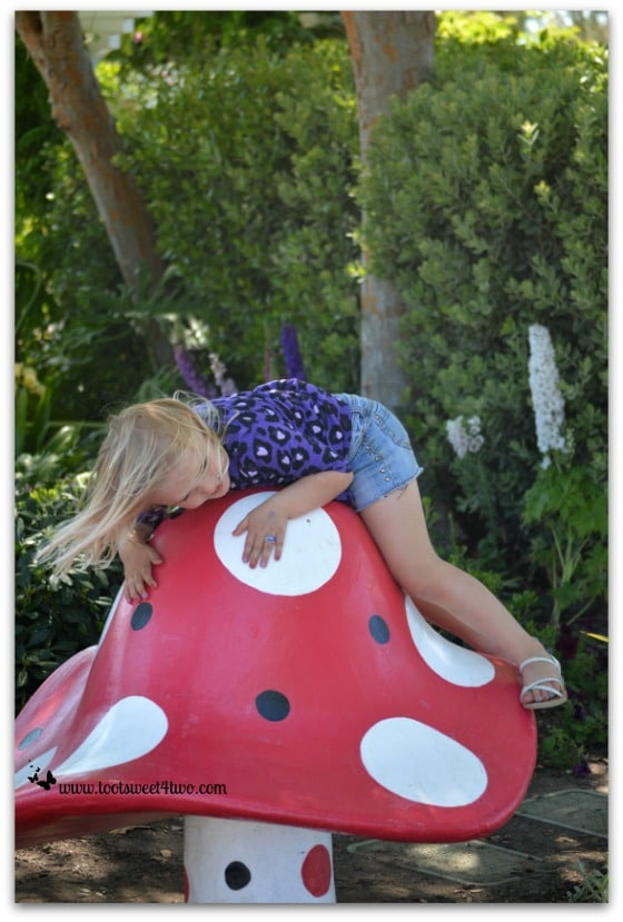 Princess Sweetie Pie balancing on the giant mushroom - Do Better