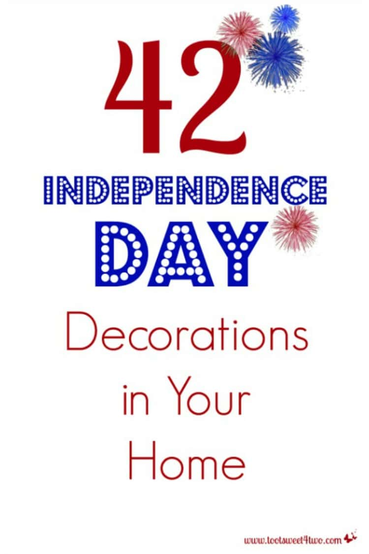42 Independence Day Decorations in Your Home - a FREE printable checklist for your household inventory binder. Did you decorate for Independence Day? Before you put those decorations away for another year, why not start your household inventory project now with this FREE printable checklist? Tackling an inventory project a little at a time is easier than trying to accomplish it all at once! | www.tootsweet4two.com