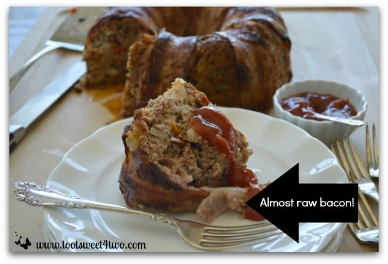 Bacon Wrapped Meatloaf Ring - almost raw bacon