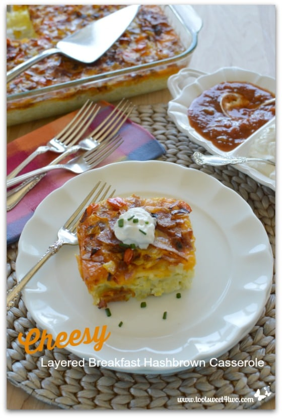 Cheesy Layered Breakfast Hashbrown Casserole