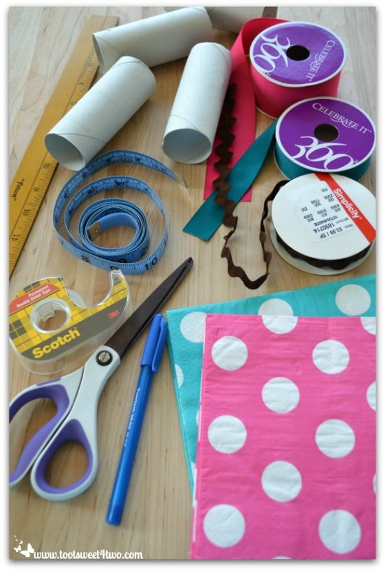 Gather supplies for project - How to Make Napkin Rings for Paper Napkins