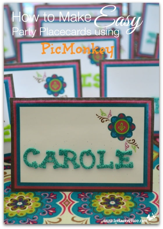 How to Make Easy Party Placecards using PicMonkey
