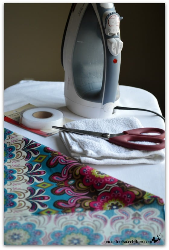 How to Make an Easy No Sew Table Runner - Pic 3 - gather your supplies