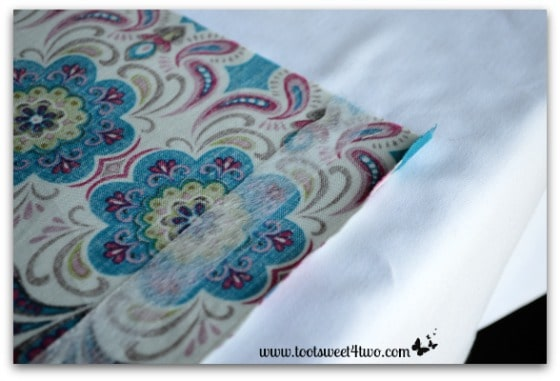 How to Make an Easy No Sew Table Runner - Pic 5 - place fusible webbing on fabric