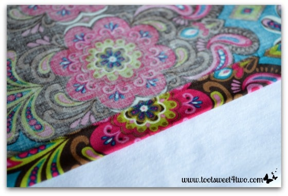 How to make an easy no sew Table Runner - Pic 9 - finished and ironed runner