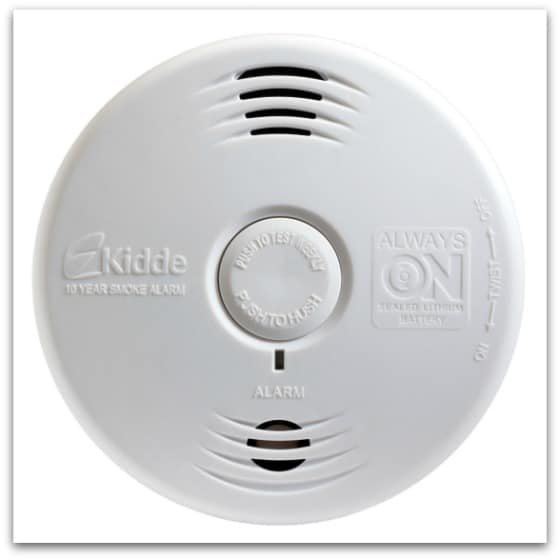 Kidde bedroom unit straight med - Smoke Alarms are you ready