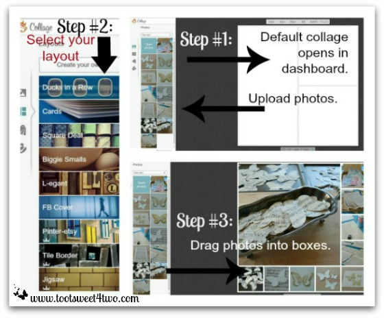 PicMonkey Basics - Pic 2 - Create a Collage - Photos, choose layout, drag photos
