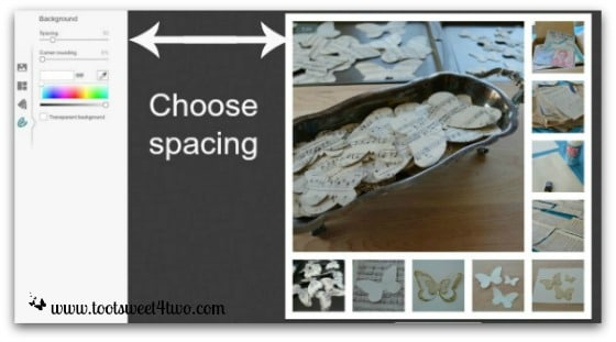 PicMonkey Basics - Pic 3 - Create a Collage - Background Spacing