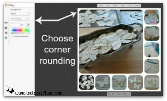 PicMonkey Basics - Pic 4 - Create a Collage - Background Corner Rounding