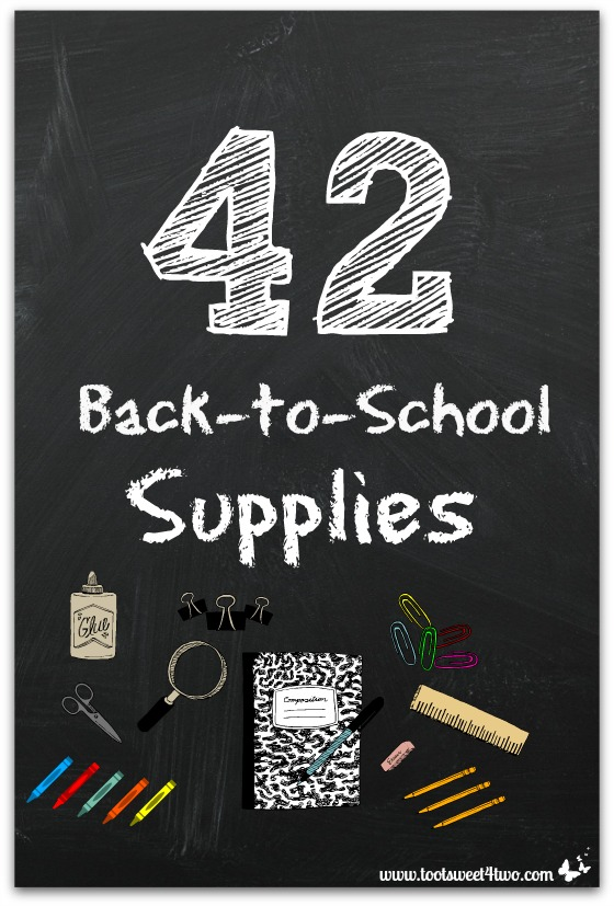 42 Back-to-School Supplies cover