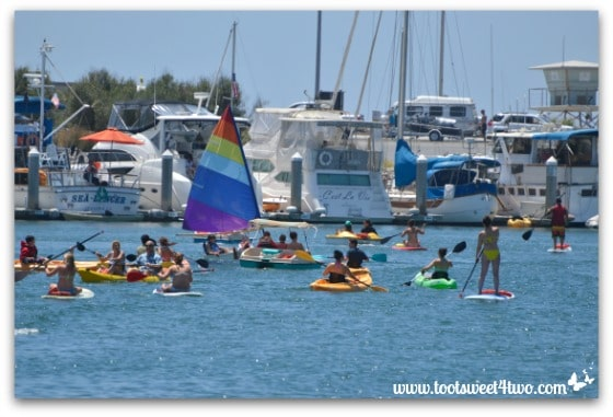Boating congestion on Oceanside Harbor