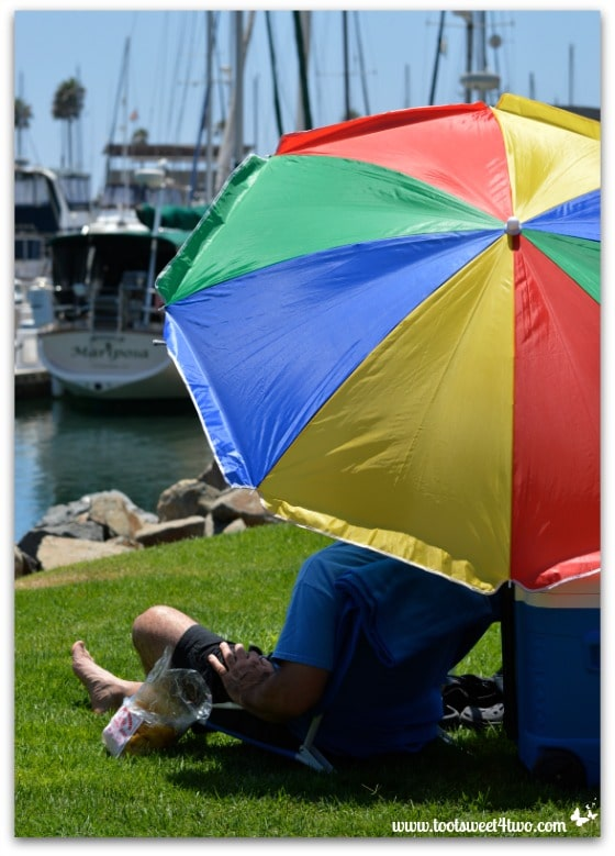 Colorful umbrella - Oceanside Harbor