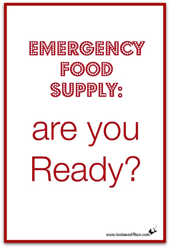 Emergency Food Supply are you Ready cover