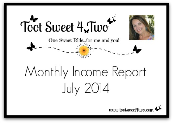 Monthly Income Report - July 2014 cover