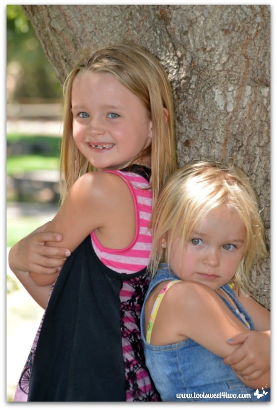 Strike a Pose - Princess P and Princess Sweetie Pie - Pic 1 - Old Poway Park