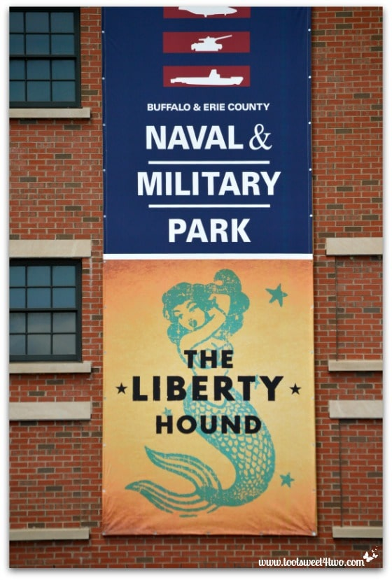 Buffalo and Erie County Naval and Military Park signage at Canalside