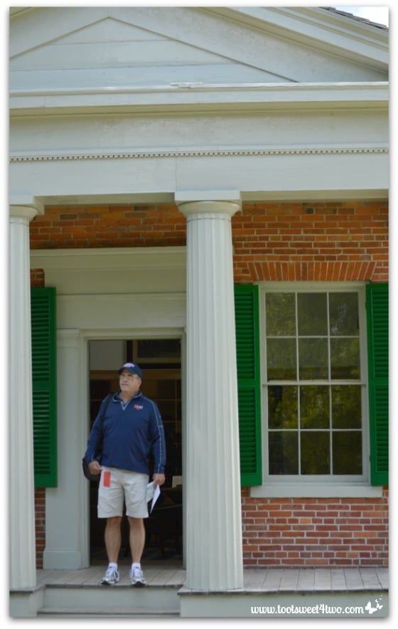 Glenn outside Hastings Law Office at Genesee Country Village