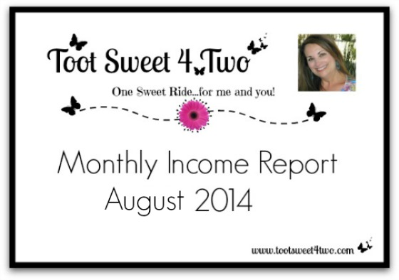 Monthly Income Report – August 2014