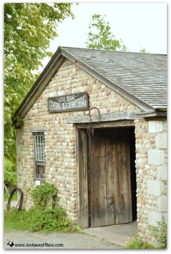Stone Blacksmith Shop at Genessee Country Village