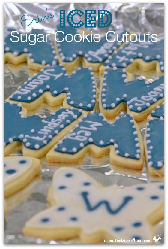 W Cookies - Erin's Iced Sugar Cookie Cutouts